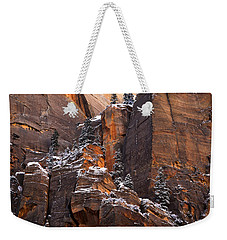 Weekender Tote Bag featuring the photograph Zion Staircase  by Dustin LeFevre