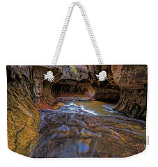 Weekender Tote Bag featuring the photograph Zion Subway by Jonathan Davison