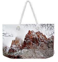 Zion's Peaks Framed Weekender Tote Bag