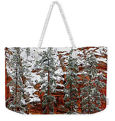 Weekender Tote Bag featuring the photograph Zion's Red And Green by Daniel Woodrum