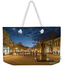 Zmaj Jovina Street In Moonlight Weekender Tote Bag by Jivko Nakev
