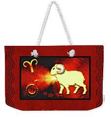 Zodiac Sign Aries - Widder Weekender Tote Bag
