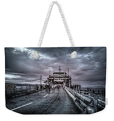 Weekender Tote Bag featuring the photograph Zombie Ferry Ride by Spencer McDonald