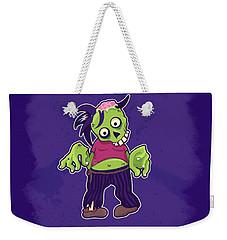 Weekender Tote Bag featuring the digital art Zombie by Julia Art