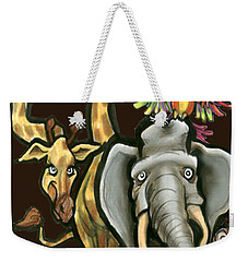 Zoo Animals Weekender Tote Bag by Kevin Middleton