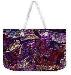 Weekender Tote Bag featuring the digital art Zoo Monkey Animal  by PixBreak Art