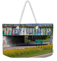 Weekender Tote Bag featuring the photograph Zoo Mural by Michiale Schneider
