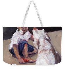 Zoom Groom Weekender Tote Bag by Molly Poole