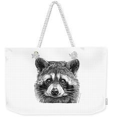 046 Zorro The Raccoon Weekender Tote Bag by Abbey Noelle