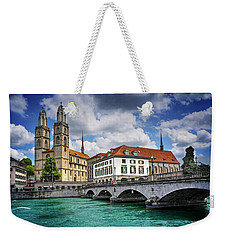 Weekender Tote Bag featuring the photograph Zurich Old Town  by Carol Japp