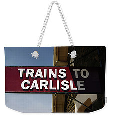 06/06/14 Settle. Station View. Destination Board. Weekender Tote Bag