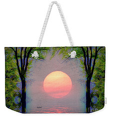 Weekender Tote Bag featuring the digital art A New Day by Edmund Nagele