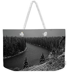 A View From The Side Of The Bow Valley Parkway, Banff National P Weekender Tote Bag