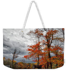 Weekender Tote Bag featuring the photograph An Autumn Day At Chestnut Ridge Park by Guy Whiteley