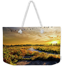 Weekender Tote Bag featuring the photograph An Old Road by Phil Koch