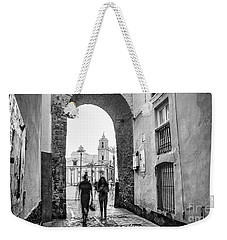 Weekender Tote Bag featuring the photograph Arch Of The Rose Cadiz Spain by Pablo Avanzini