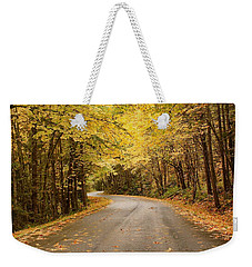 Weekender Tote Bag featuring the photograph Autumn Drive by Brian Eberly