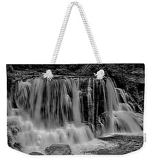 Weekender Tote Bag featuring the photograph Blackwater Falls Mono 1309 by Donald Brown