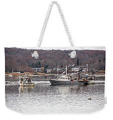 Boats At Northport Harbor Weekender Tote Bag