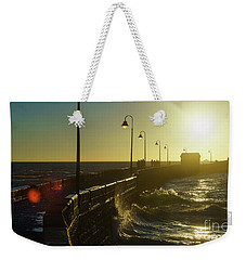 Weekender Tote Bag featuring the photograph Caleta Walkway At Sunset Cadiz Spain by Pablo Avanzini