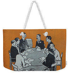 Weekender Tote Bag featuring the painting Feb 1938 Dublin Opinion by Val Byrne