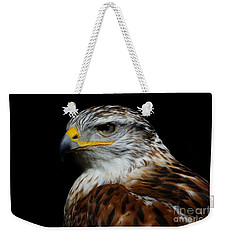 Weekender Tote Bag featuring the photograph Ferruginous Hawk Portrait by Sue Harper
