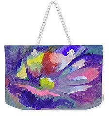 Weekender Tote Bag featuring the painting Flowering Abstract 3 by Dobrotsvet Art