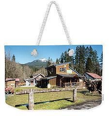 Glacier Coffee Shop Weekender Tote Bag