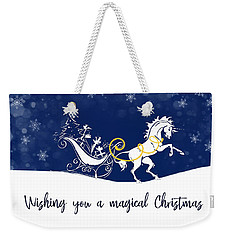 Holiday Magic Quote Weekender Tote Bag