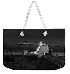 Weekender Tote Bag featuring the photograph Hopgood's Last Run Black And White Version by Gary Eason
