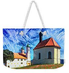 Weekender Tote Bag featuring the digital art Kalvarienberg by Edmund Nagele