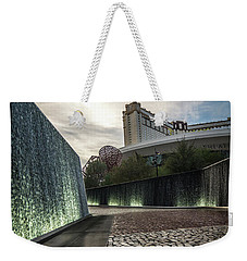 Weekender Tote Bag featuring the photograph Las Vegas Nevada City Scenery On Sunny Day by Alex Grichenko