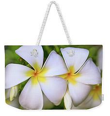 Laukahi Plumerias Weekender Tote Bag