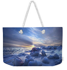 Weekender Tote Bag featuring the photograph Letting Go by Phil Koch