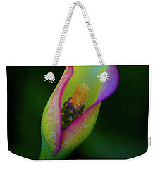 Weekender Tote Bag featuring the photograph Lily  by John Rodrigues
