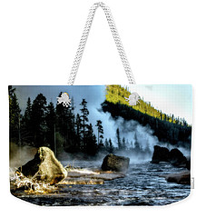 Weekender Tote Bag featuring the photograph Misty Morning by Pete Federico