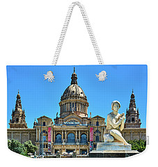 Weekender Tote Bag featuring the photograph National Art Museum In Barcelona by Eduardo Jose Accorinti
