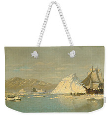 Weekender Tote Bag featuring the painting Off Greenland - Whaler Seeking Open Water by William Bradford