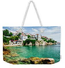 Old Town View Of Skiathos Island, Sporades, Greece.  Weekender Tote Bag