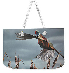 Out Of The Cattails Weekender Tote Bag
