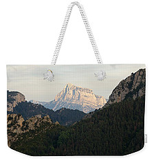 Weekender Tote Bag featuring the photograph Pena Montanesa by Stephen Taylor