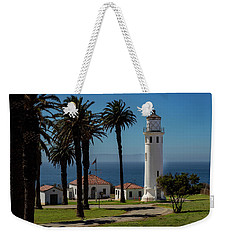 Weekender Tote Bag featuring the photograph Point Vicente Lighthouse by Ed Clark