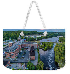 Weekender Tote Bag featuring the photograph Ponemah Mill by Michael Hughes