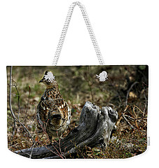 Weekender Tote Bag featuring the photograph Ruffed Grouse 50701 by Rick Veldman