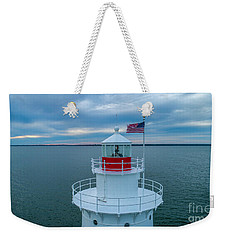 Weekender Tote Bag featuring the photograph Sakonnet Lighthouse  by Michael Hughes