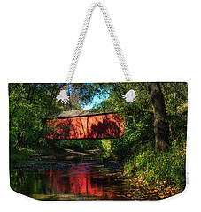 Sandy Creek Covered Bridge Weekender Tote Bag
