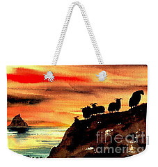Weekender Tote Bag featuring the painting Sceilig Micil From Teraught, Kerry by Val Byrne