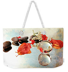 Weekender Tote Bag featuring the photograph Seasons In A Bubble by Randi Grace Nilsberg