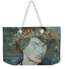 Weekender Tote Bag featuring the drawing Self-portrait by Ivar Arosenius
