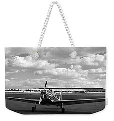Weekender Tote Bag featuring the photograph Silver Airplane Duxford England by Rick Veldman